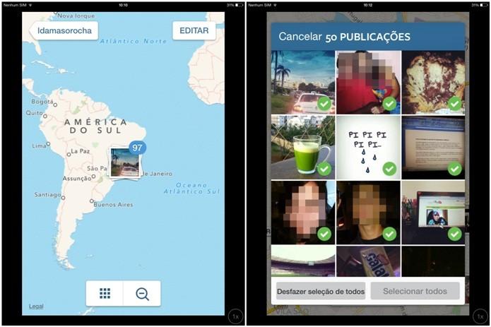 Removendo tag de localização das fotos no Instagram (Foto: Reprodução/Lívia Dâmaso)