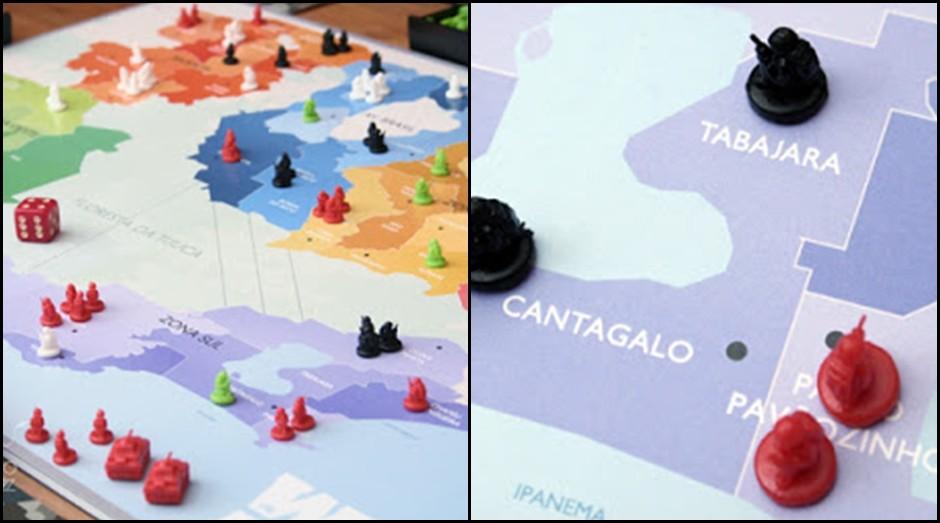 """O """"War in Rio"""" foi inspirado no clássico jogo """"War"""" (Foto: Divulgação)"""