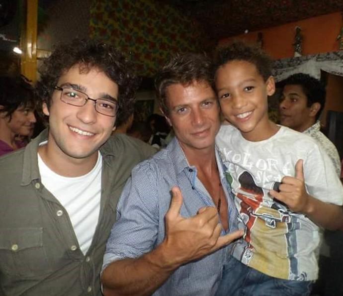 Nicollas com Humberto Carrão e o Pablo Belini em 2012 (Foto: Arquivo Pessoal / Gshow)