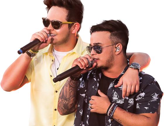 Em alta nas rádios de todo país, a dupla Matheus e Kauan também está confirmada no festival (Foto: Divulgação)