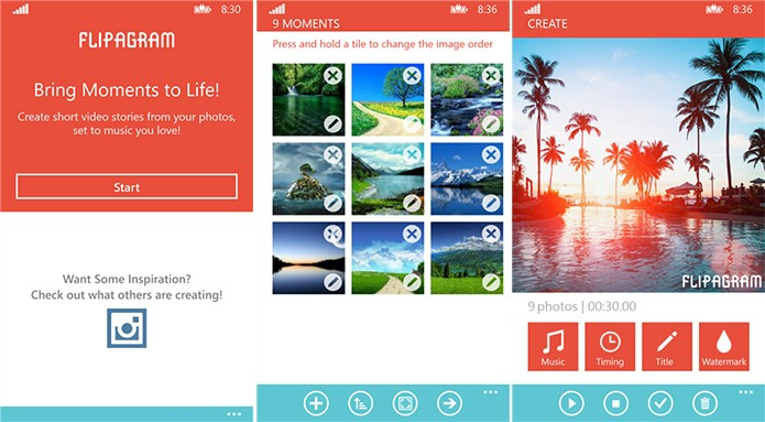 Flipagram é um aplicativo ideal para quem quer compartilhar suas fotos de maneira diferenciada (Foto: Divulgação/Windows Phone Store)