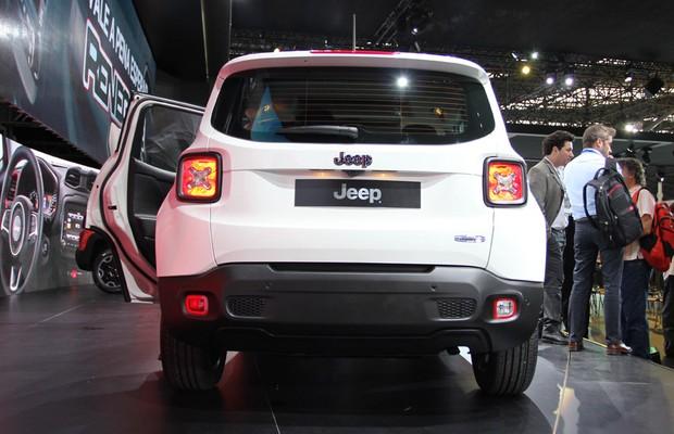 Jeep Renegade no Salão do Automóvel 2014 (Foto: Fabio Aro/Autoesporte)