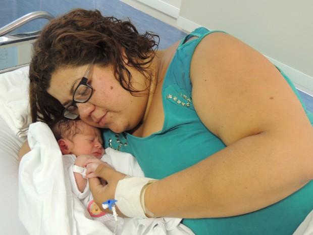 Arthur nasceu nesta sexta-feira (31), com 49 cm e 2880 kg (Foto: Divulgação/Hospital Universitário de Jundiaí)