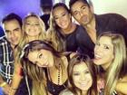 Ex-BBBs Fani, Anamara, Ton e Milena se divertem em São Paulo