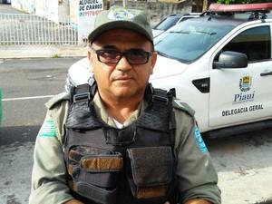 Cabo Salatiel Santiago, da Polícia Militar (Foto: Ellyo Teixeira/G1)