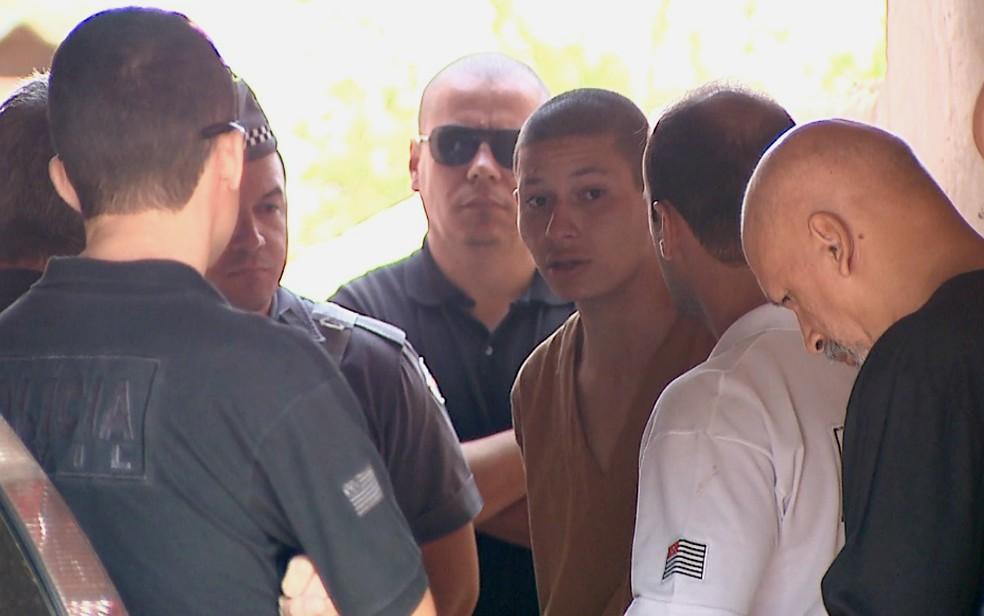 Cada um dos suspeitos de envolvimento na morte de Itaberli Lozano participaram separadamente das três reconstituições (Foto: Reprodução/EPTV)