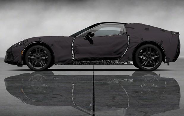 Protótipo camuflado da sétima geração do Corvette (Foto: Divulgação)