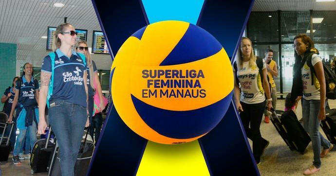 Superliga feminina em Manaus (Foto: Divulgação)