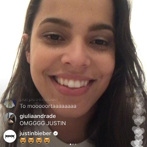 Ex-BBB Mayla recebe recado de Justin Bieber (Foto: Instagram/ Reprodução)