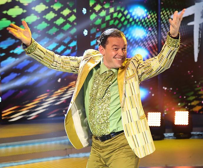 Fernando Rocha trouxe muita empolgação para sua apresentação no 'Dança' (Foto: Carol Caminha/Gshow)