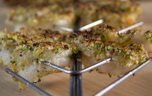 Camarão com crosta de pistache