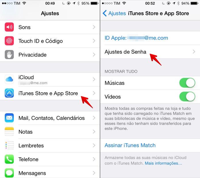 Acesse as configurações da App Store (Foto: Reprodução/Helito Bijora)