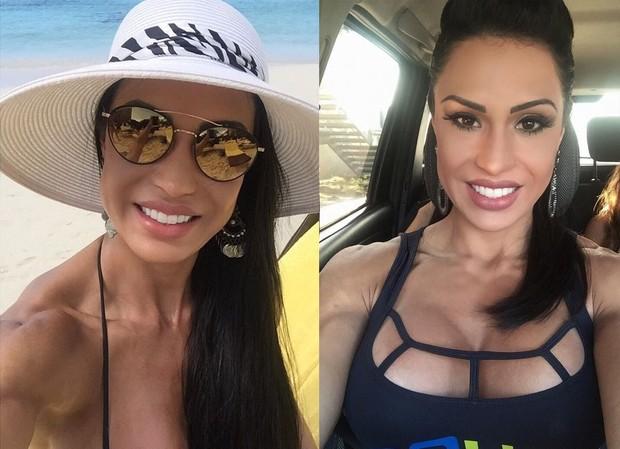 Gracyanne Barbosa: antes e depois das lentes de contato nos dentes (Foto: Reprodução/Instagram)