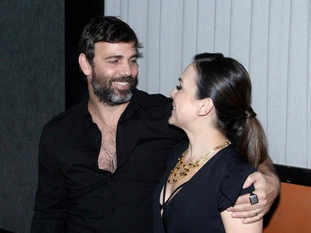 Marcelo Faria e Gabriela Duarte em pré-estreia de filme na Zona Sul do Rio (Foto: Alex Palarea/ Ag. News)