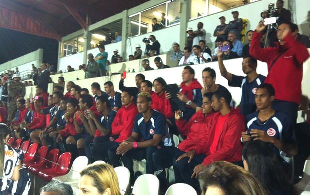 Seleção doTaiti na Arena do Jacaré (Foto: Fernando Martins)