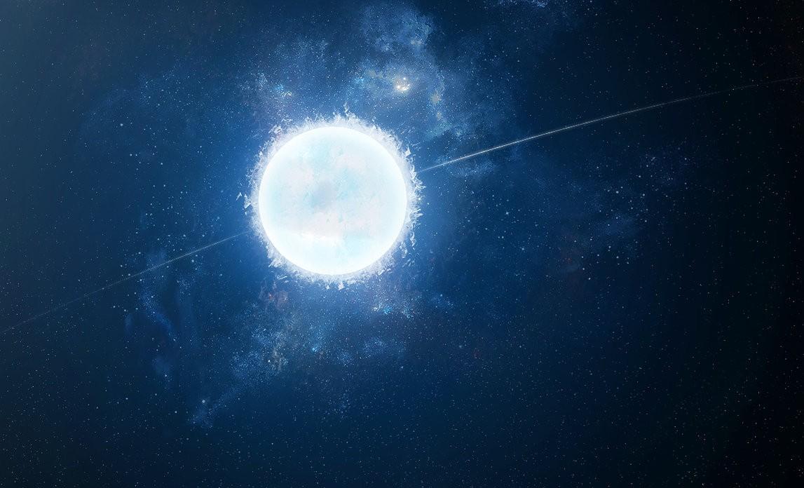 Representação de uma estrela branca anã (Foto: Reprodução/NASA)