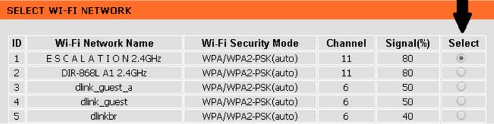 Na lista de redes encontradas, selecione a que deseja replicar o sinal (Foto: Reprodução/Karen Malek)