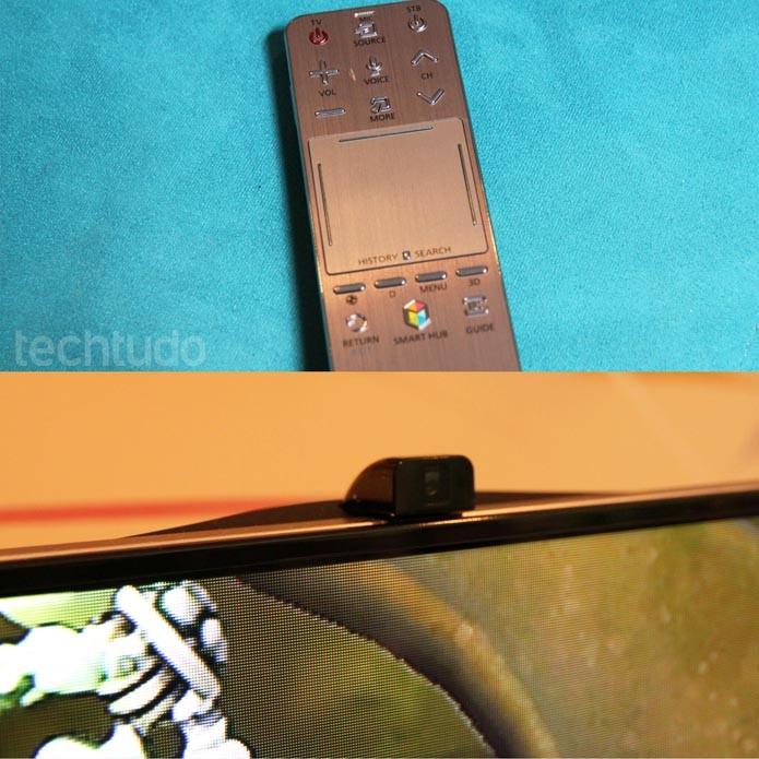 Controle smart com base touch e câmera de 5 megapixels retrátil da série F8000 (Foto: Rodrigo Bastos/TechTudo)