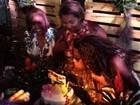 'Pagodão chic' de Ludmilla tem 120kg de carne em festa que durou 12 horas