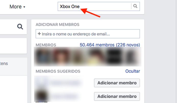 Ferramenta para buscar por produtos à venda em um grupo do Facebook (Foto: Reprodução/Marvin Costa)