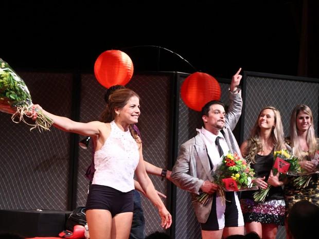 Maurício Machado e Nívea Stelmann em teatro no Rio (Foto: Raphael Mesquita/ Foto Rio News)