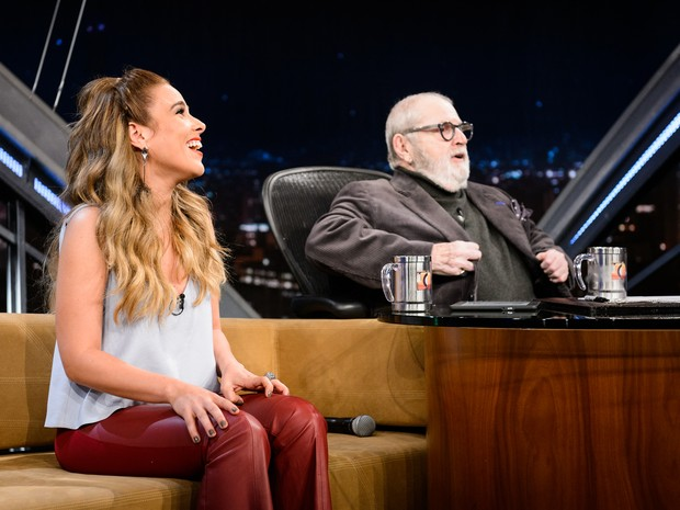 Wanessa em entrevista a Jô Soares (Foto: Ramón Vasconcelos/ Globo)