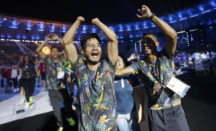 Yohansson Nascimento cerimônia de encerramento paralimpíada rio 2016 (Foto: Reuters)