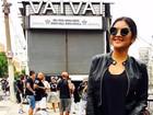 Mileide Mihaile, ex de Safadão, confere ensaio da escola de samba Vai-vai