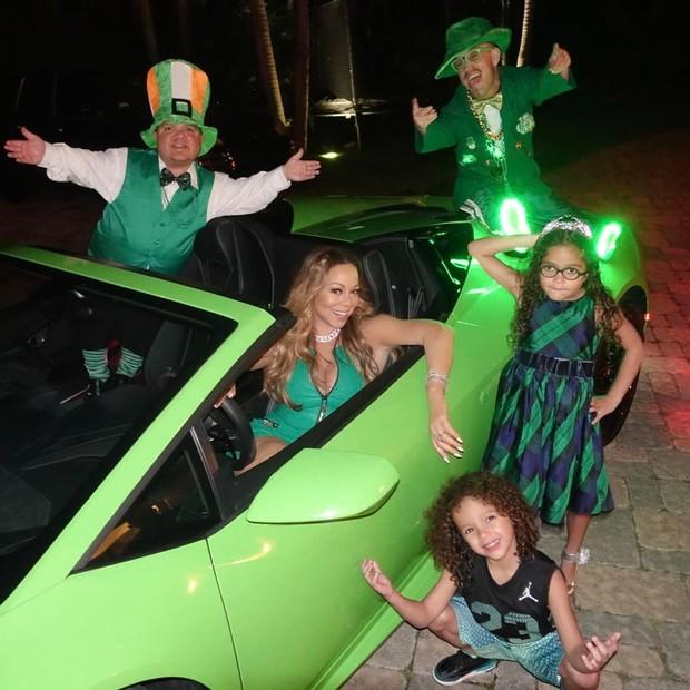 Mariah Carey comemora o Saint Patrick's Day (Foto: Reprodução/Instagram)
