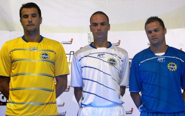 São José novo uniforme (Foto: Arthur Costa/ Globoesporte.com)
