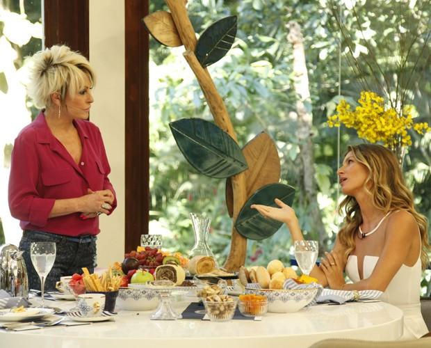 Ana Maria e Gisele (Foto: Raphael Dias/TV Globo)