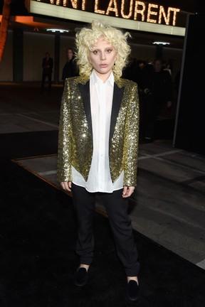 Lady Gaga em evento de moda em Los Angeles, nos Estados Unidos (Foto: Larry Busacca/ Getty Images/ AFP)