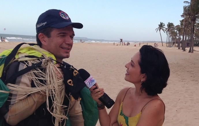 Waldonys em surpresa no Ceará. (Foto: Allyson Pontes / TV Verdes Mares)