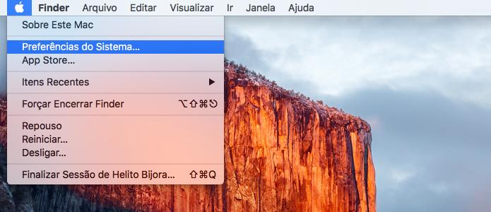 Acesse as configurações do Mac OS X (Foto: Reprodução/Helito Bijora)