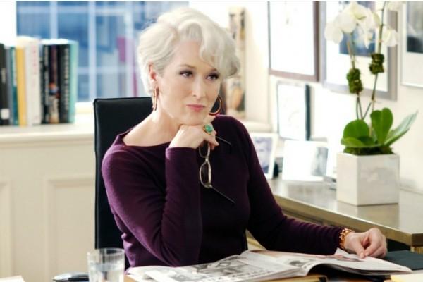 Meryl Streep em cena de O Diabo Veste Prada (2006) (Foto: Reprodução)
