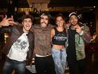 Rafael Vitti, Mariana Goldfarb e Felipe Titto se encontram em evento em SP