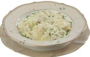 Nhoque de arroz com molho branco de bacalhau e shitake: receita do Eduardo Salvador