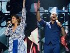 Maria Rita e Diogo Nogueira cantam juntos na Concha Acústica do TCA