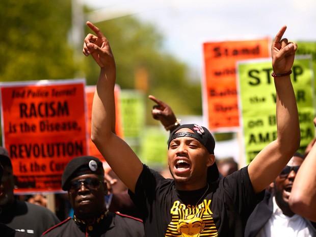 Protesto em Baltimore (Foto: Lucas Jackson/Reuters)