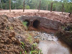 Pontes e manilhas estão sendo recuperadas em Formiga (Foto: Prefeitura/ Divulgação)