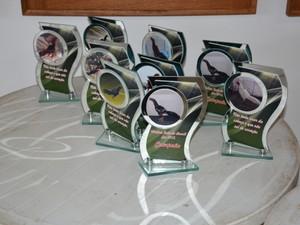 Troféus eram entregues para os campeões das competições (Foto: Divulgação/PF)