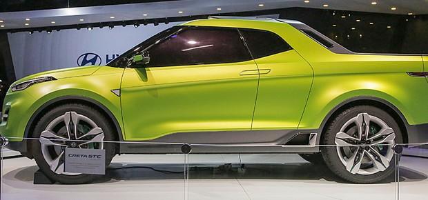 Picape Hyundai Creta STC no Salão do Automóvel 2016 (Foto: Marcos Camargo/Autoesporte)