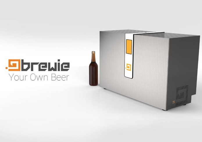 Máquina de cerveja 100% automatizada pode custar até 10 mil doláres (Foto: Divulgação/ Brewie)
