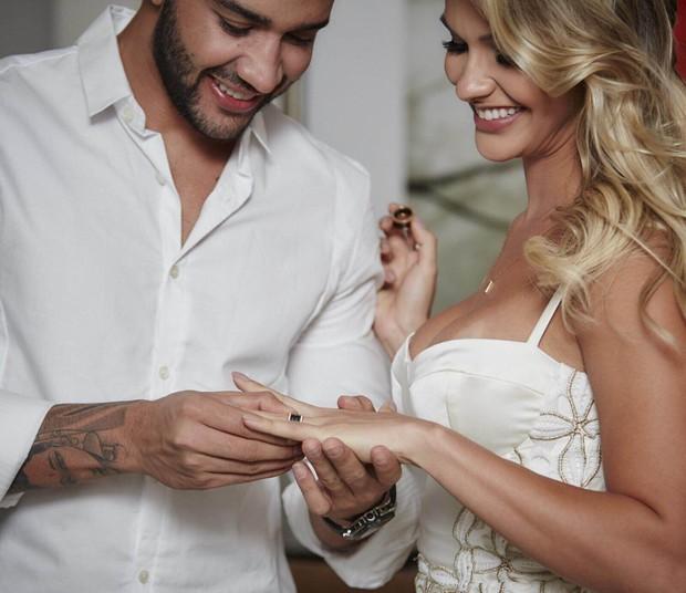 Gusttavo Lima e Andressa Suita se casam em Goiânia (Foto: João Augusto/ Michelle Barzotto/ Divulgação)