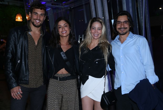 Felipe Roque, Aline Riscado, Danielle Winits e André Gonçalves (Foto: Anderson Borde/Agnews)