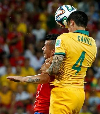 Gol Cahill Chile x Austrália (Foto: Getty Images )