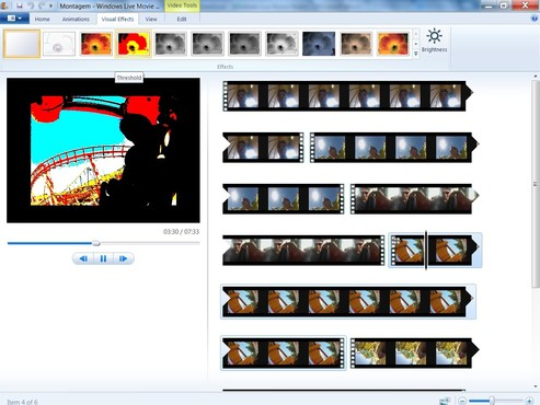screenshot de Windows Live Movie Maker