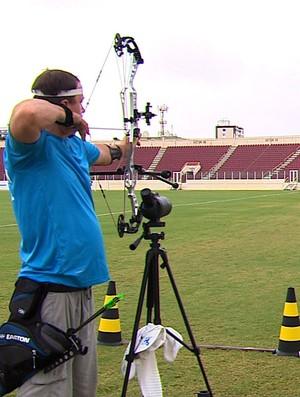 Atleta paralímpico do Cazaquistão treina em Aracaju (Foto: Reprodução / TV Sergipe)