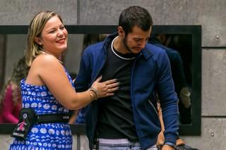 Maria Claudia e Matheus no BBB 16 (Foto: Globo/Paulo Belote)