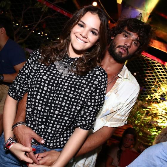 Bruna Marquezine e Marlon Teixeira, posam em uma festa no Rio na época em que ficaram juntos (Foto: AG. News)